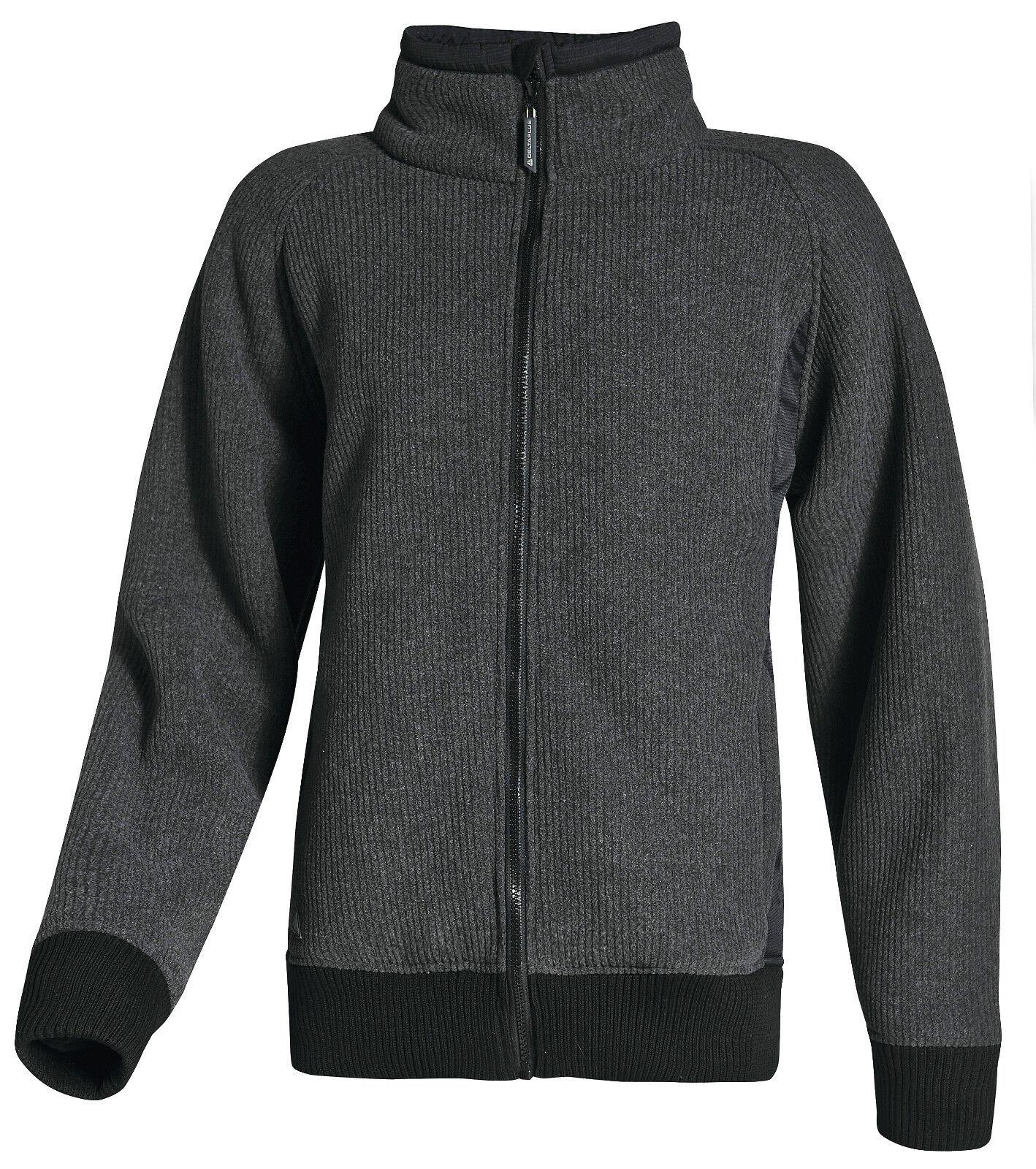 Delta Plus Panoply Lurgan Grey Mens Polar Fleece Jacket Coat Winter Top BNWT