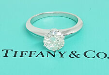 Tiffany & Co 1.25 ct Platinum Round Diamond Solitaire Engagement Ring G/VS1 3EX