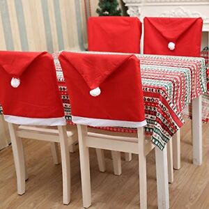 Christmas Table Cover Tablecloth Chair Seat Cover Xmas Dining Room Party Decor //