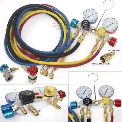 R134A R22 R410A R404A HVAC Diagnostic Manifold Gauge Charging Sets Refrigeration