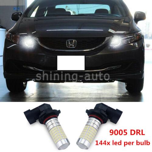 2x Super bright 9005 HB3 Daytime Running Light LED bulb DRL For Honda Acura TL F