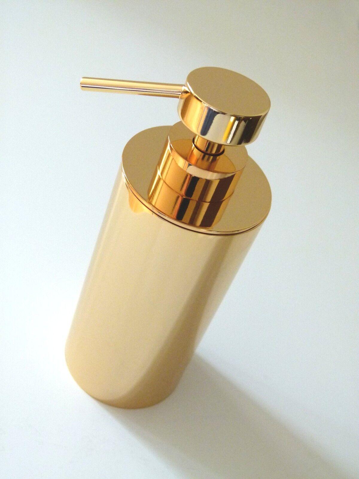 Sehr exklusiver Design Seifenspender, 24 Karat hart verGoldet, Gold