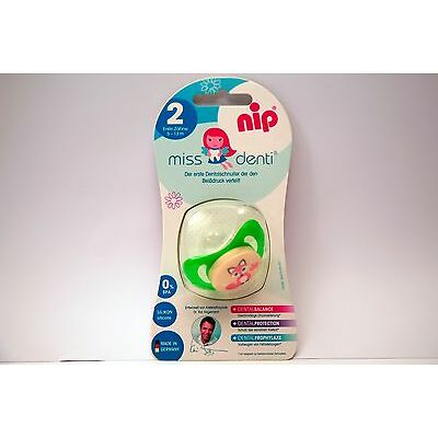 NEW NIP Miss Denti 5-13 Month Silicone Soother Baby Dummy Infant Pacifier Green