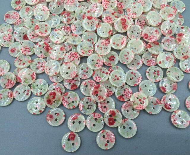 Resin 2-holes buttons printing Sewing scrapbooking decoration crafts 11mm