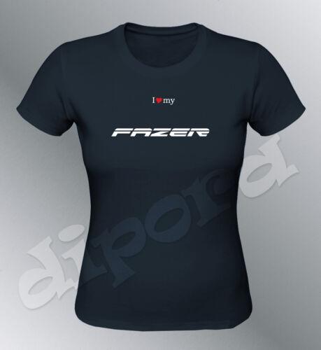 Tee shirt personnalise Fazer 2010 S M L XL femme noir col rond moto FZ6 FZ1 FZ8