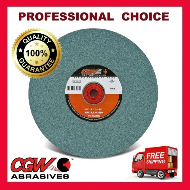 Silicon Carbide Bench Grinding Wheels 10 x 1 x 1-1//4 Grit 80