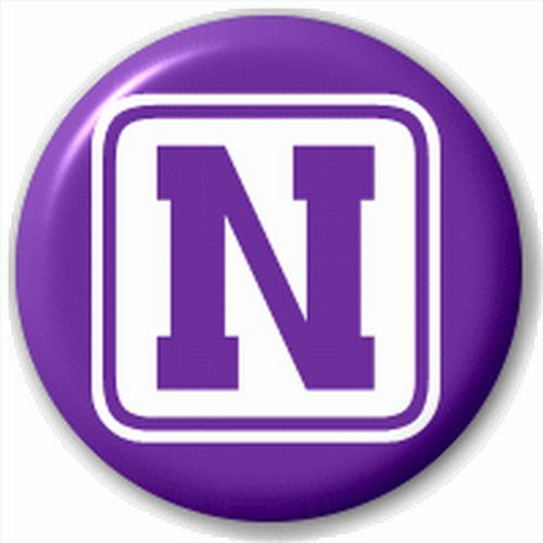 Block Small 25mm Lapel Pin Button Badge Novelty Letter Initial N