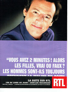 Publicité Advertising 088   2002   radio RTL  Jean-Luc Reichmann