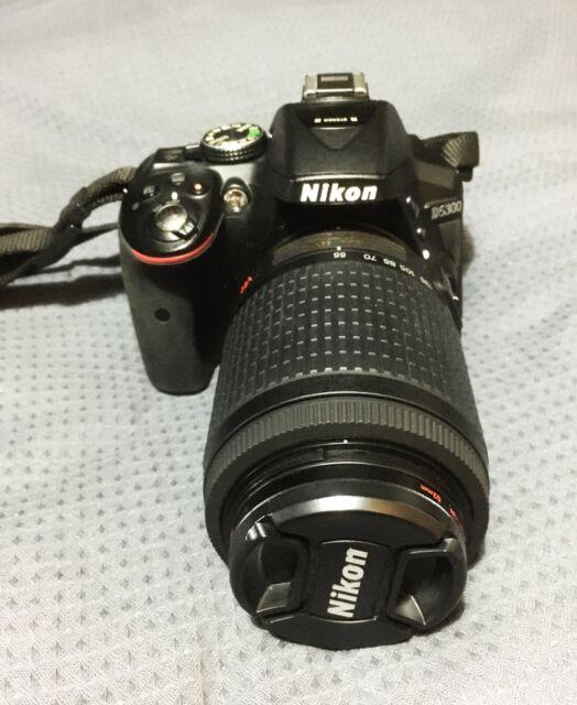 Nikon D5300 24.2 MP Digital SLR Camera - Black (Kit with AF-S VR 18-55mm Lens)