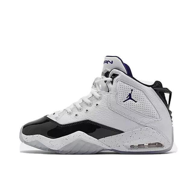 Mens Nike Jordan B'Loyal Basketball Shoes White Black Court Purple 315317  115