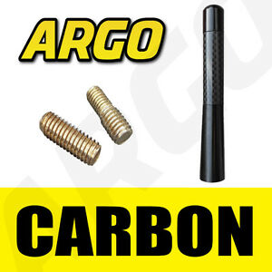 BLACK-CARBON-BEE-STING-AERIAL-ANTENNA-MAST-STUBBY-ROOF-MINI-ALUMINIUM-RADIO-AMFM