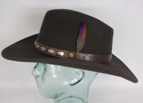 STETSON Westernhut Cowboyhut Wollfilz Hut braun Western Cowboy Hat 3298104 NEU