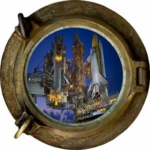Huge-3D-Porthole-Nasa-Space-Launch-View-Wall-Stickers-Film-Mural-Wallpaper-393