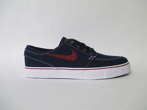 new york e0261 68cff Image is loading Nike-SB-Stefan-Janoski-Obsidian-Red-White-Gold-