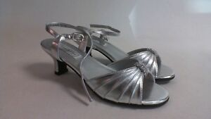 Image Is Loading Touch Ups Wedding Shoes Silver Childrens Talia US