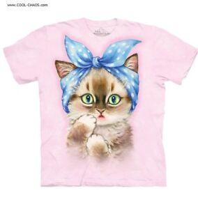 Ragazza kawaii shirt Pin Purrfect sfacciato Tintura up T Gatto A Riserva Rosa dwBP1q6