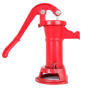 Functional-Hand-Water-Well-Pump-Pitcher-Cast-Iron-Press-Suction-Outdoor-Yard-NEW