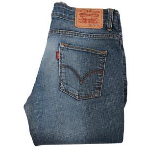 594 Droit Levi's Gris Bleu Jeans L33 Pantalon Basse W28 Femme Taille pMqSzUV
