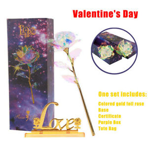 Gold-Foil-Dipped-Rose-24K-Flower-Dipped-Valentine-039-s-Days-Love-Gifts-Decoration