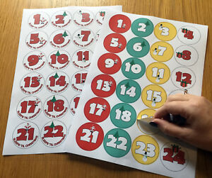 Christmas Counter.Details About Christmas Countdown Advent Calendar Stickers Xmas Craft Labels Sleeps Counter