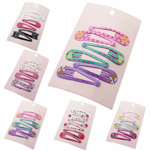 6pcs//set Hair Clips Snaps Hairpin Girls Baby Kids Hair Bow Accessories Xmas Gift