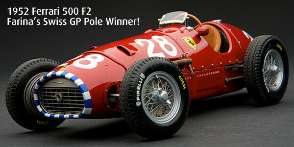 scegli il tuo preferito 1 18  NINO NINO NINO  FARINA, Exoto FERRARI TIPO 500 F2-Swiss GP 1952-GPC97199-NUOVO  marchio famoso