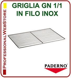 GRIGLIA-IN-FILO-ACCIAIO-INOX-GASTRONORM-GN-1-1-RIPIANO-per-FRIGO-FREEZER-FORNO