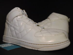 on sale 03b77 b9ded Details about 2008 NIKE SB DUNK HIGH SUPREME OLYMPIC QUILTED PATENT OFF  WHITE 321762-111 13