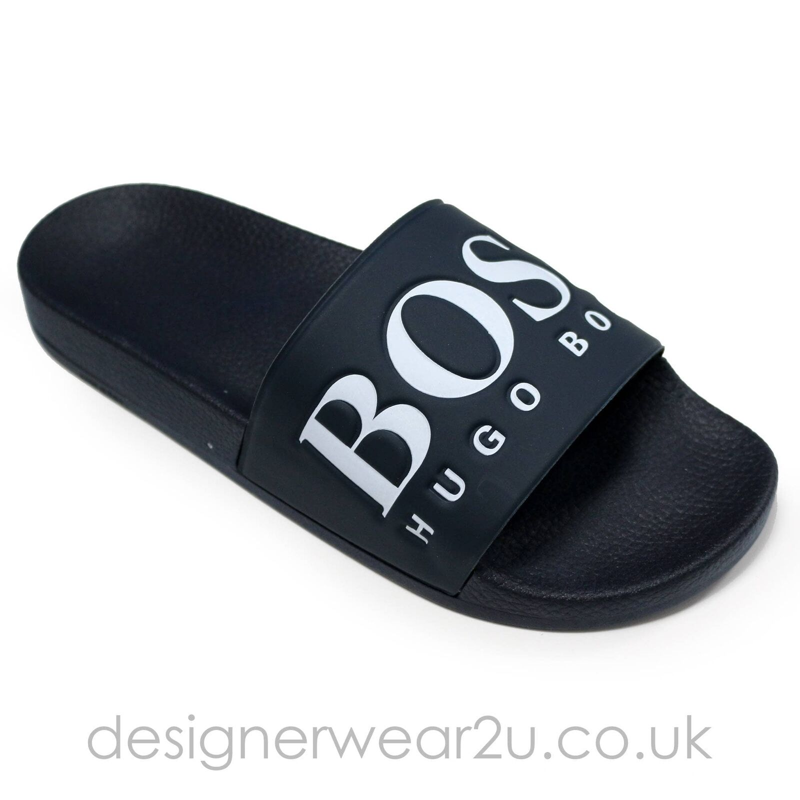 Hugo Boss Navy Sliders with Contrast Bridge Logo