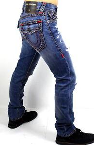 True-Religion-299-Men-039-s-Ricky-Relaxed-Straight-Super-T-Jeans-MDA859N22W