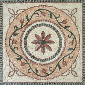 Lotus flower greek motif tile decor floor pool garden home marble image is loading lotus flower greek motif tile decor floor pool mightylinksfo