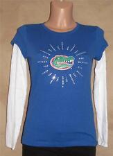 Girl's Florida Gator Logo Blues Cotton Long Sleeves T-shirt Top Junior S Child L