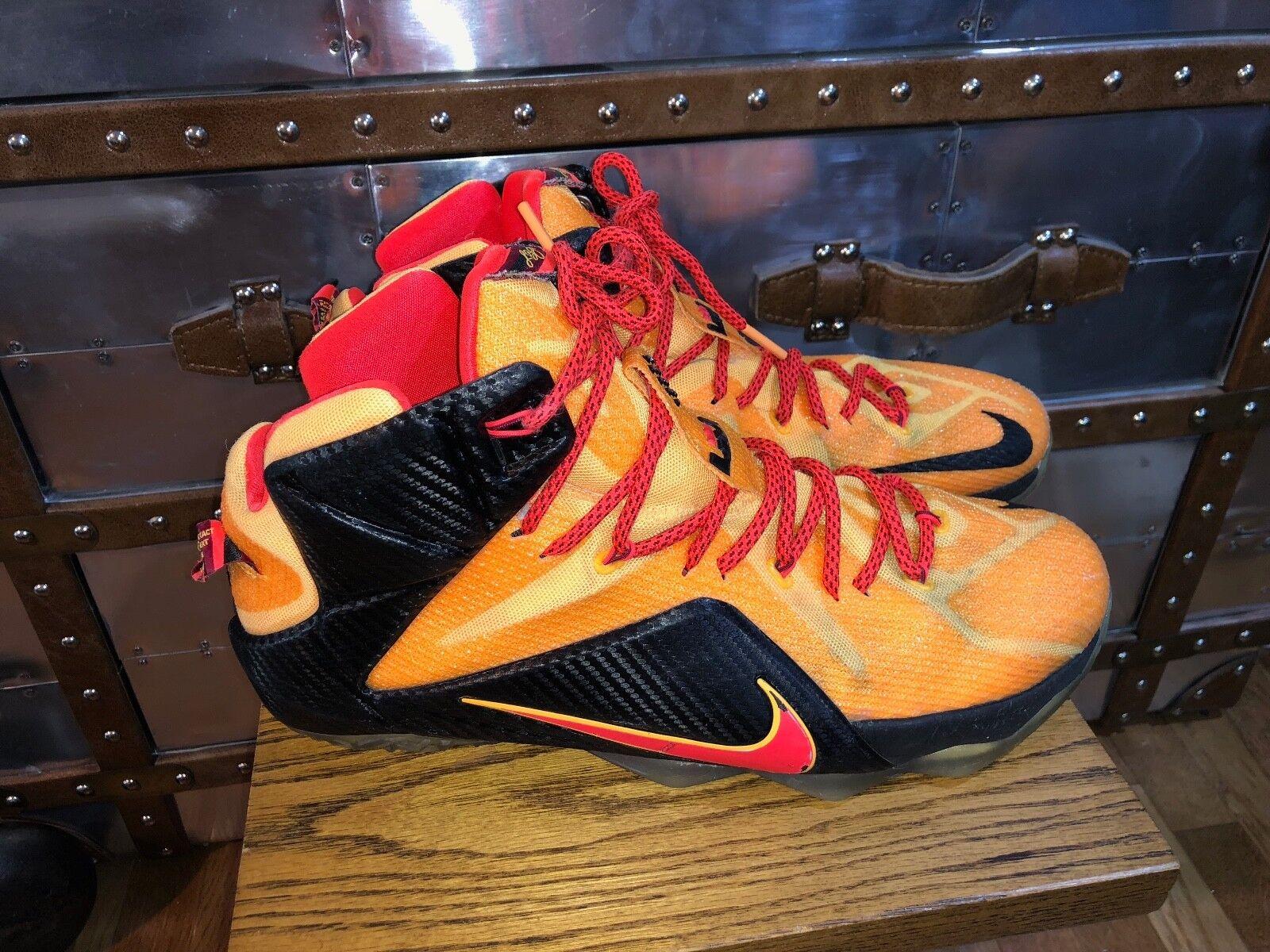 nike lebron orange xii 12 zeugen cleveland orange lebron 684593 830 sz 13 basketball - schuhe 56961a