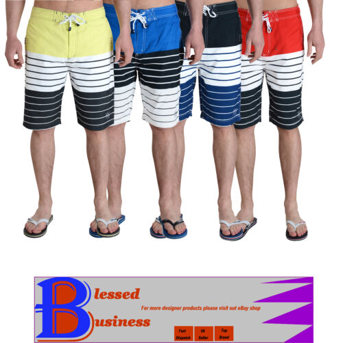 Para Hombre Smith /& Jones A Rayas Verano Swim Beach Surf Board Shorts Flip Flop Set