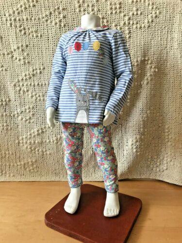 BABY MINI BODEN Big Applique Girls Play Suit Top Set 0 3 6 9 12 24 2-3 BUNNY £30