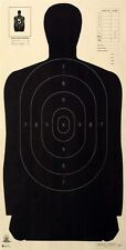 """Official NRA B-27 [B27] 50 Yard LE Silhouette Targets [23"""" x 45""""] (5 targets)"""