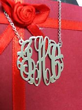 """New Personalized Silver Jewelry Monogram Initial Name Necklace(NewYork)1.25"""""""