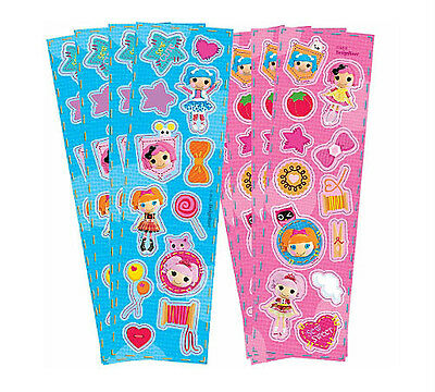 LALALOOPSY PARTY SUPPLIES FAVOURS 8 STICKER STRIPS