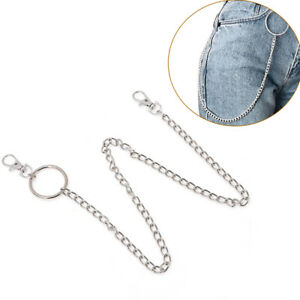 Extra-Long-Strong-Metal-Hipster-Jean-Belt-Keychain-Ring-Clip-Key-Chain-Punk-QA