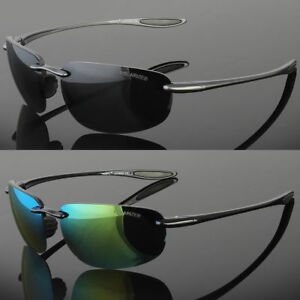 b68f367440a Image is loading Mens-Rimless-Polarized-Sunglasses-UV400-Outdoor-Sports- Driving-