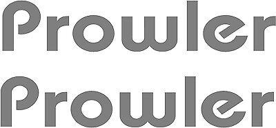 "Prowler 2 pc Camper RV Vinyl Decal Sticker Camper Graphics Stickers 20"""