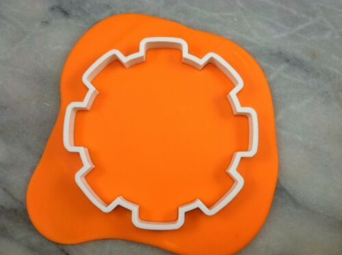 Gear #1 No Hole Cookie Cutter CHOOSE YOUR OWN SIZE!