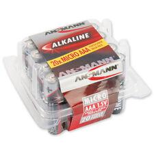 ANSMANN AAA Alkaline Batteries Lr03 Longlife With High Capacity for Clocks Etc.