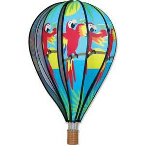 """Premier Kites Hot Air Balloon 5 O'CLOCK PARROT Wind Spinner (25765 - 22"""" size)"""