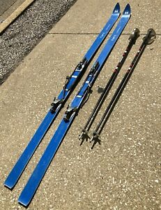 VTG-77-034-HART-Camaro-Blue-Combination-Cross-Country-Downhill-Snow-Ski-w-Poles