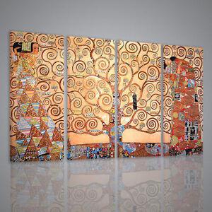 Quadri-Moderni-160x90-Gustav-Klimt-L-039-albero-della-Vita-XXL-stampe-su-tela-quadri