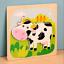 miniature 11 - Mignon Coloré en Bois Puzzle Baby Kids Toddler Jigsaw Animal À faire soi-même Learning Toy UK