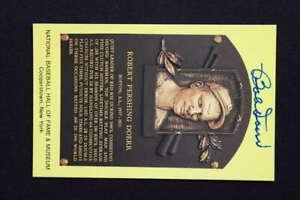 BOBBY DOERR SIGNED AUTO AUTOGRAPH 5.5 x 3.5 POST CARD HOF PLAQUE PC1820