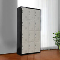 12 Door Storage Lockers Office Gym Shed Home Furniture