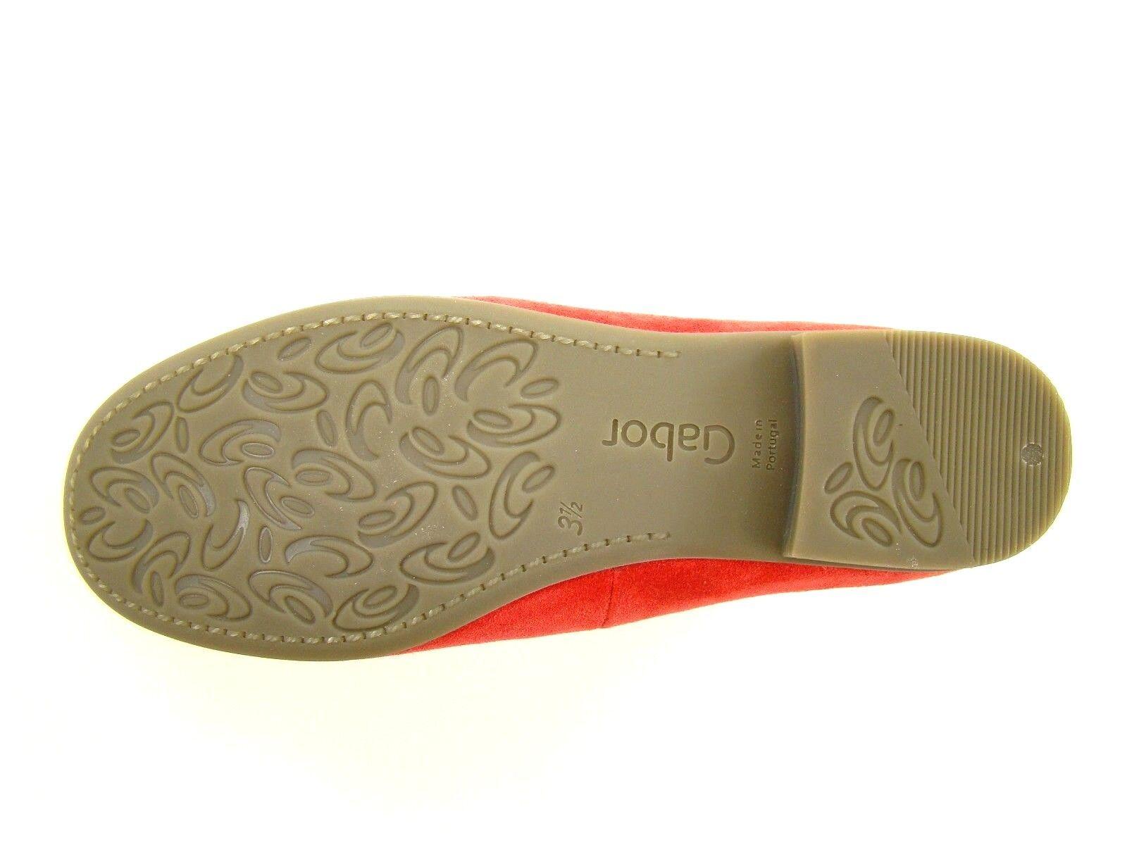 2944 GABOR Mokassins 5 38 NEU Leder Loafer Slipper Loafer Leder flache Schuhe Damen rot ee05cd